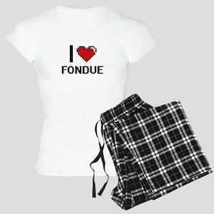 I love Fondue digital desig Women's Light Pajamas