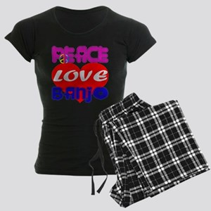 Peace Love Banjo Women's Dark Pajamas
