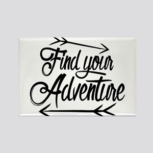 Find Adventure Rectangle Magnet