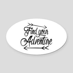 Find Adventure Oval Car Magnet