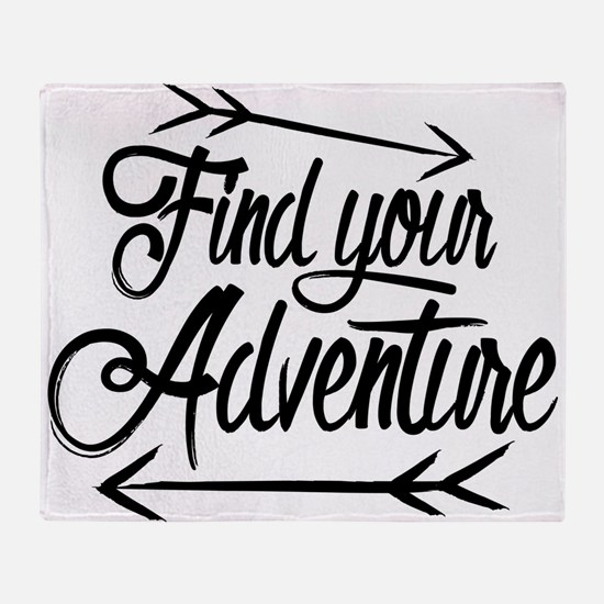 Find Adventure Throw Blanket