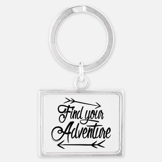 Find Adventure Landscape Keychain
