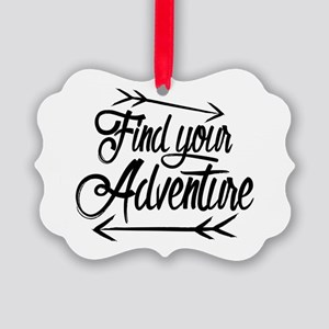 Find Adventure Picture Ornament