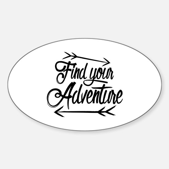 Find Adventure Sticker (Oval)
