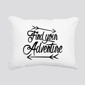 Find Adventure Rectangular Canvas Pillow