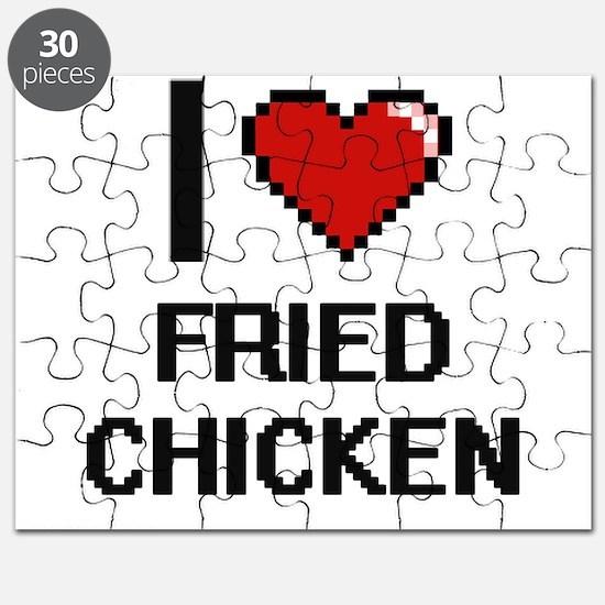 I love Fried Chicken digital design Puzzle