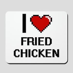 I love Fried Chicken digital design Mousepad