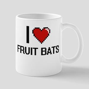 I love Fruit Bats digital design Mugs