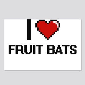 I love Fruit Bats digital Postcards (Package of 8)