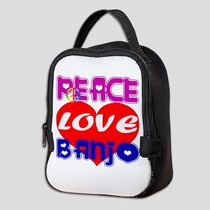 Peace Love Banjo Neoprene Lunch Bag