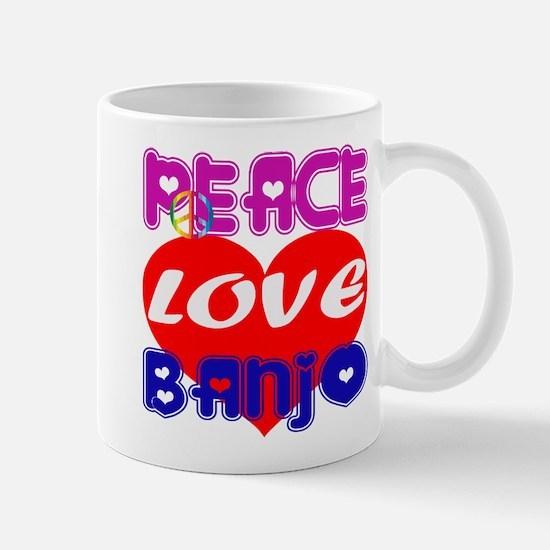 Peace Love Banjo Mug