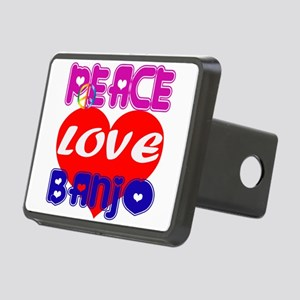 Peace Love Banjo Rectangular Hitch Cover