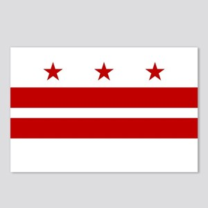 DC Washington Flag Postcards (Package of 8)
