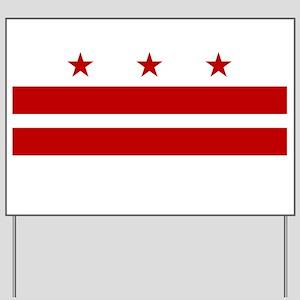 DC Washington Flag Yard Sign