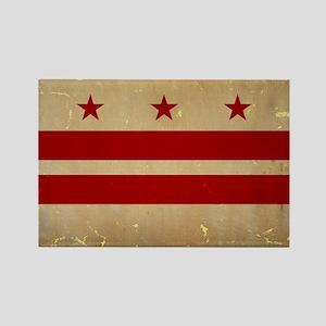 Washington, DC Flag VINTAGE Rectangle Magnet