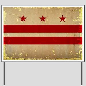 Washington, DC Flag VINTAGE Yard Sign