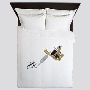 Tattoo Gun Queen Duvet