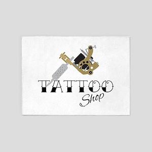 Tattoo Shop 5'x7'Area Rug