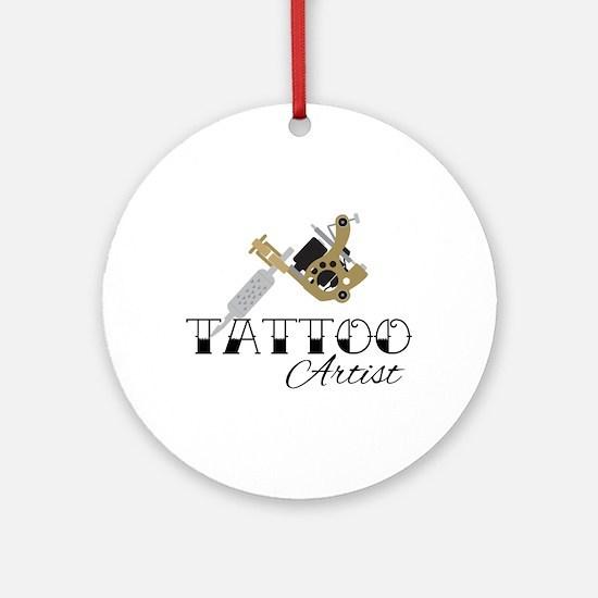 Tattoo Artist Round Ornament