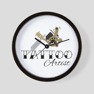 Tattoo Artist Wall Clock