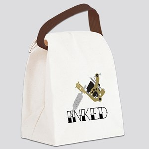 Tattoo Inked Canvas Lunch Bag