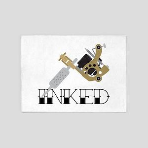 Tattoo Inked 5'x7'Area Rug