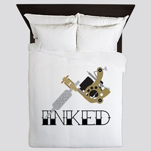 Tattoo Inked Queen Duvet