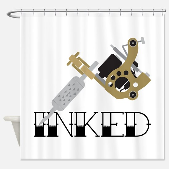 Tattoo Inked Shower Curtain