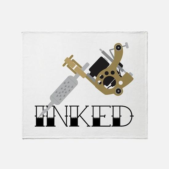 Tattoo Inked Throw Blanket