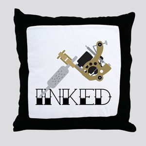 Tattoo Inked Throw Pillow