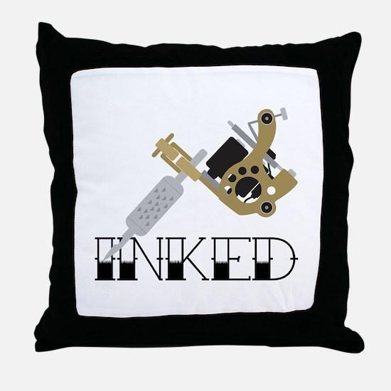 Tattoo Inked Throw Pillow
