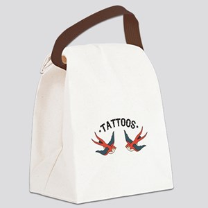Tattoo Sparrows Canvas Lunch Bag