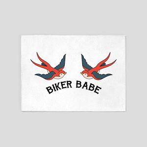 Biker Babe 5'x7'Area Rug