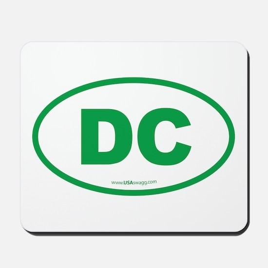 Washington DC Euro Oval Mousepad