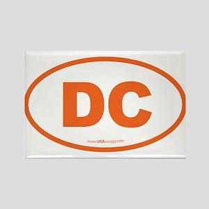 Washington DC Euro Oval Rectangle Magnet