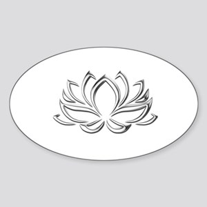 silver lotus Sticker
