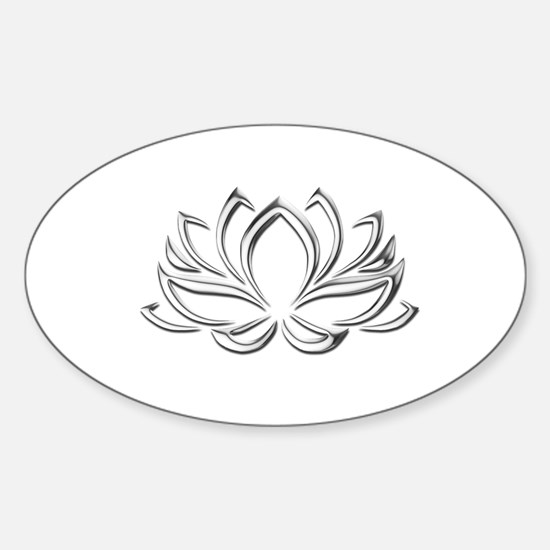 silver lotus Decal