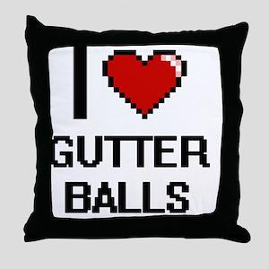 I love Gutter Balls digital design Throw Pillow