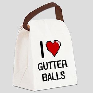 I love Gutter Balls digital desig Canvas Lunch Bag