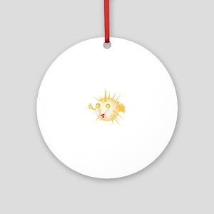 Blowfish Round Ornament