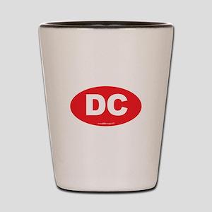 Washington DC Euro Oval Shot Glass