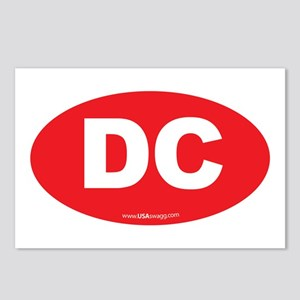 Washington DC Euro Oval Postcards (Package of 8)