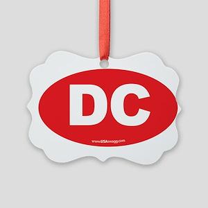 Washington DC Euro Oval Picture Ornament