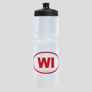 Wisconsin WI Euro Oval Sports Bottle
