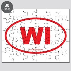 Wisconsin WI Euro Oval Puzzle