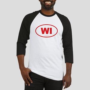 Wisconsin WI Euro Oval Baseball Jersey