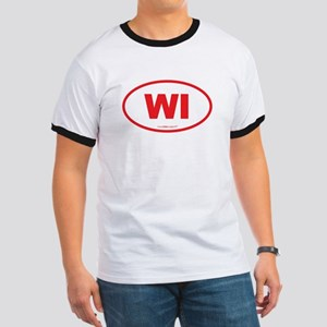 Wisconsin WI Euro Oval Ringer T