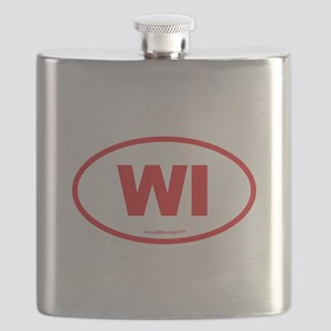 Wisconsin WI Euro Oval Flask