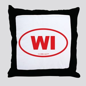 Wisconsin WI Euro Oval Throw Pillow