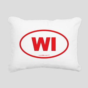 Wisconsin WI Euro Oval Rectangular Canvas Pillow